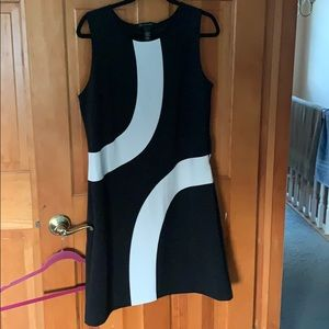 I.N.C  Black and White Dress
